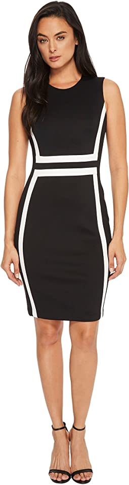 Calvin Klein - Color Block Scuba Sheath Dress CD7M1V5K