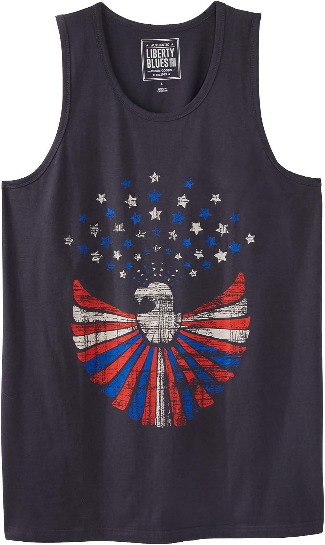 Liberty Blues Men's Big & Tall Americana Tank by