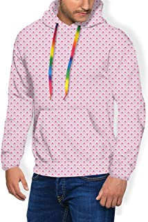 GULTMEE Men's Hoodies Sweatershirt, Retro Repetitive Circular Pattern with Overlap Nested Rounds,5 Size