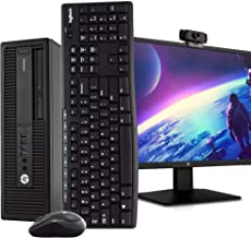 "$589 » HP 800 G2 Desktop PC Computer, i5-6500, 16GB DDR4 RAM 512GB SSD, Windows 10 Pro, New 23.6"" FHD LED Monitor, New 1080p Peri..."