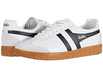 Gola Hurricane Leather (Off-White/Black/Gum) Men