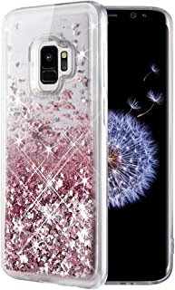 Caka Galaxy S9 Case, Galaxy S9 Glitter Case Liquid Series Luxury Fashion Bling Flowing Liquid Floating Sparkle Glitter Soft TPU Case for Samsung Galaxy S9 (Rose Gold)