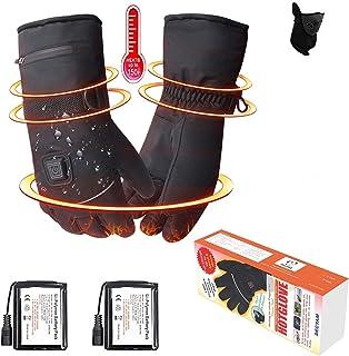 recargables eléctrica batería Guantes calefactables, cálida Guantes de invierno hombre mujer, impermeable, guantes de moto, guantes de esquí calefactables, guantes de snowboard, calentador de manos