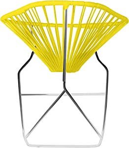 Innit Designs 15-03-03 Junior Acapulco Rocker, Yellow On Chrome