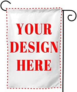 Custom Garden Flag, Personalized Yard Flags Decor, Add Your Own Picture/Text House Lawn Banner Double Sided Home Wall Deco...