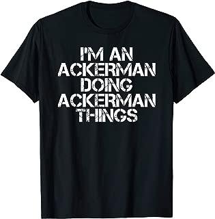 ACKERMAN Funny Surname Family Tree Birthday Reunion Gift T-Shirt