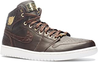 Mens Air Jordan 1 Pinnacle Croc Baroque Brown/Metallic Gold-Metallic Summit Leather