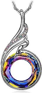Kate Lynn - Nirvana de Fénix - Collar, Simbolizando la Suerte y la Renovación, Cristales de Swarovski, Diseño Original, El...