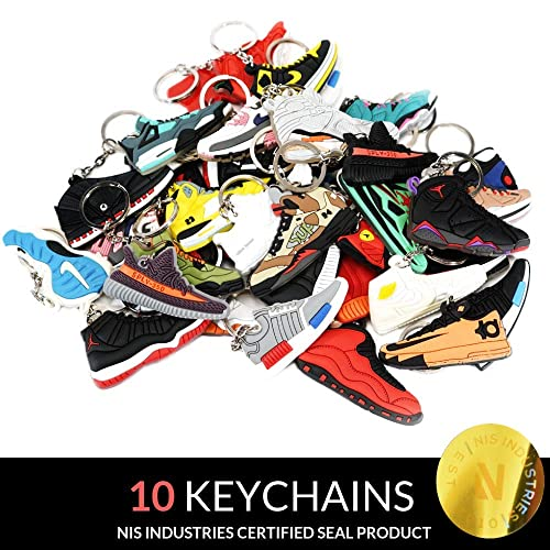 on sale 1892d 34505 NIS Industries Mini Sneaker Keychains - Rare Air Packs - Rubber Silicone 2D Retro  Sneakers
