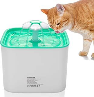 Pet Fountain Cat Water Dispenser Automatic Flower Fountain with 3 Stage Filter for Cats, Dogs, Birds and Small Pets - 2L Capacity