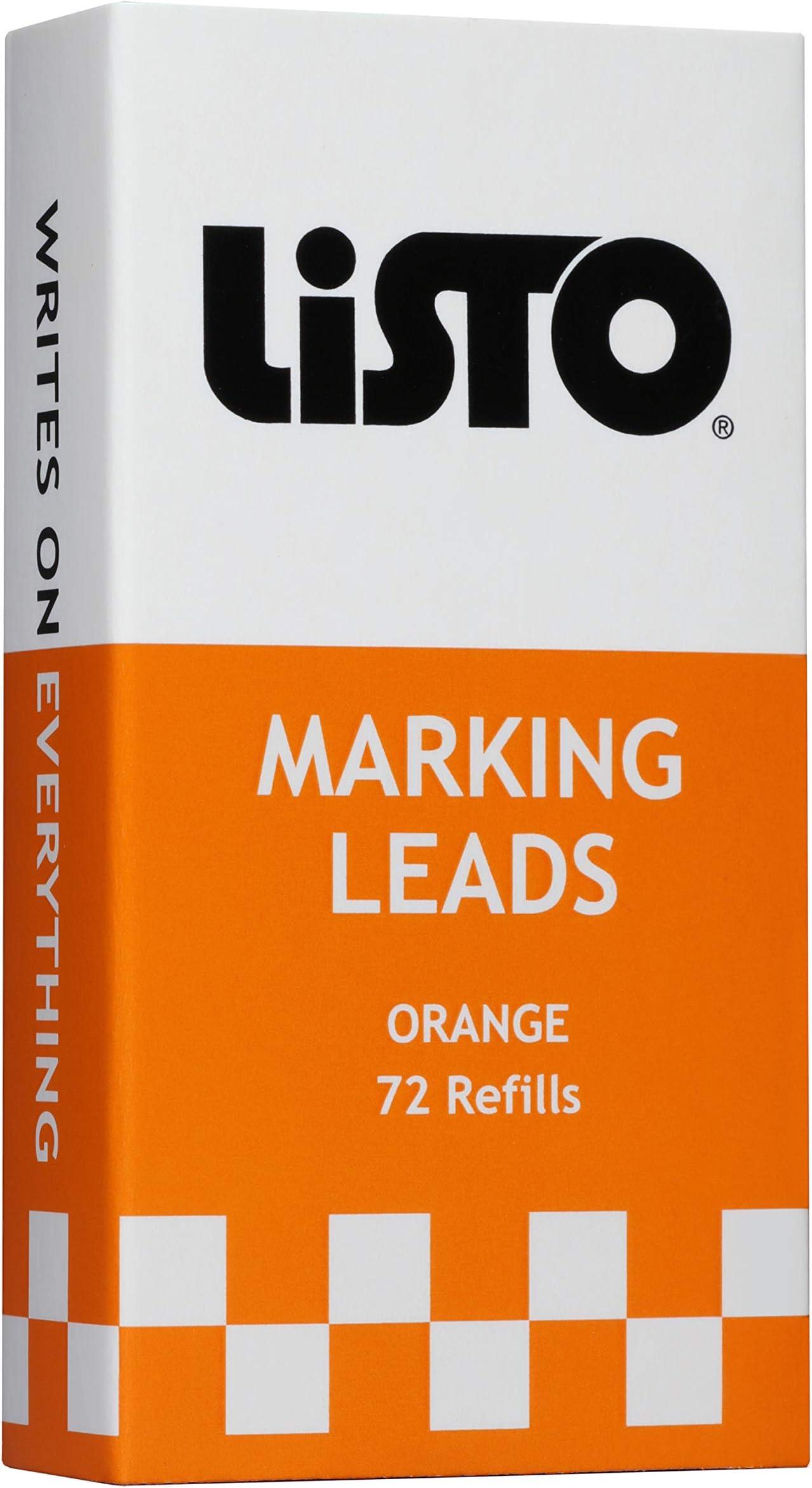 Listo 162 Marking Pencils Refill - ORANGE, Box of 72, Grease Pencils/China Marking Pencils/Wax Pencils