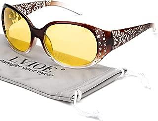Night Vision Driving Glasses Wrap Around Anti Glare with...