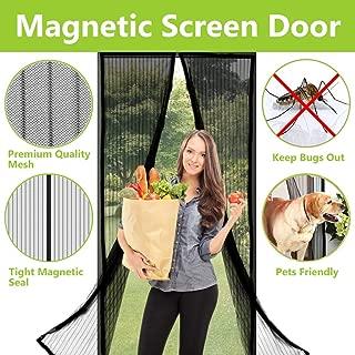 Aoocan Magnetic Screen Door - Heavy Duty mesh Door Screen and Full Frame Hook & Loop Fits Door Size up to 34