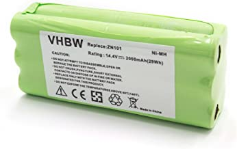 vhbw NiMH batería 2000mAh (14.4V) para robot limpiasuelos robot autónomo de limpieza Ecovacs Dibea K6, L6, ZN101