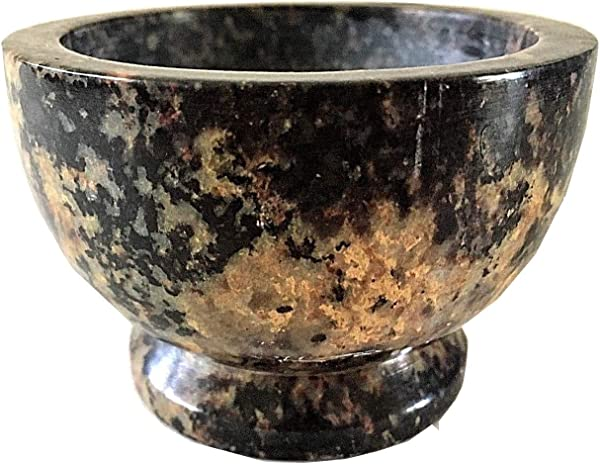 NAI Soapstone Incense Burner Bowl Smudge Pot Wicca Ritual Offering Bowl 3 W X 2 H SBR37