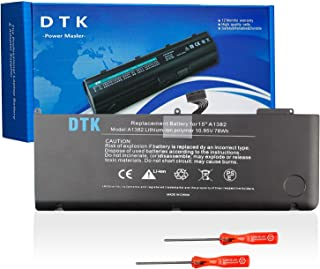 DTK New Laptop Battery Replacement for Macbook Pro 15  A1382 A1286  Only for Core Early 2011 End 2011 Mid 2012  Unibody Li-polymer 10 95V 78WH