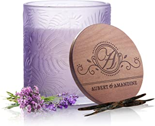 Aubert & Amandine Pastel Collection Luxury Scented Soy Candle for Stress Relief & Relaxation High Intensity Aromatherapy (...