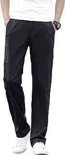 NUBILY チノパン メンズ ストレッチ テーパード 大きいサイズ 小さいサイズ ズボン ロング パンツ 春 夏 ゆったり ボトムス 無地 黒 ネイビー カーキ