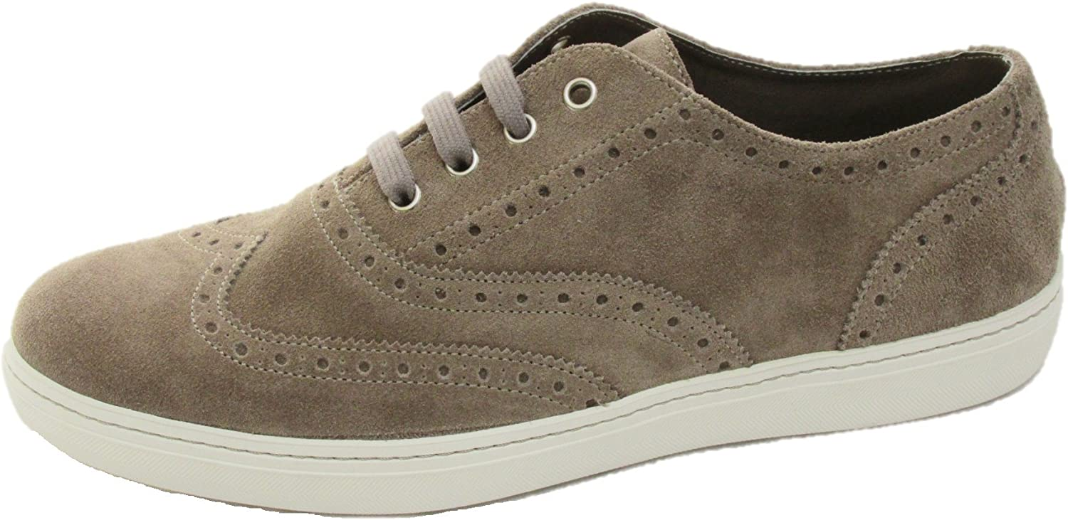 Frau shoes men Sneakers in Camoscio Beige 28C2