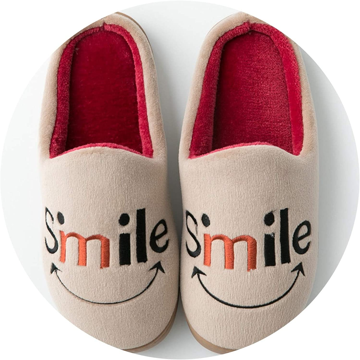 Pursuit-of-self-CA-cotton slippers Indoor Bedroom Non-Slip Warm Month shoes