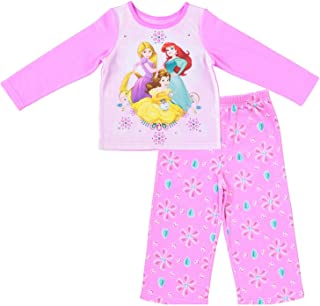 d9bb426fc Disney Junior Girls Princess Pajamas - 2-Piece Long Sleeve Pajama Set