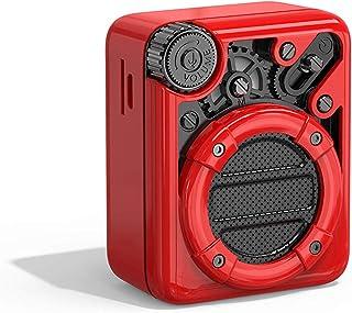 DIVOOM ACDIVESPRED Espresso Mini Pocket Friendly Retro Look Bluetooth Speaker - Red (Pack of 1)