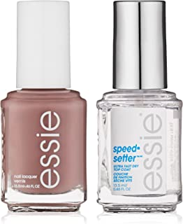 essie Speed Setter Top Coat & Nail Polish Kit, Clothing Optional,