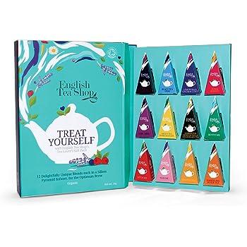 English Tea Shop Tee Geschenk Tee Kollektion Tea Moments Im Schmuckkarton 12 Verschiedene Tees In Pyramiden Beutel Bio Amazon De Lebensmittel Getranke