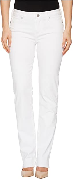 Sadie Straight Vintage Slub Stretch Twill Jeans in Bright White