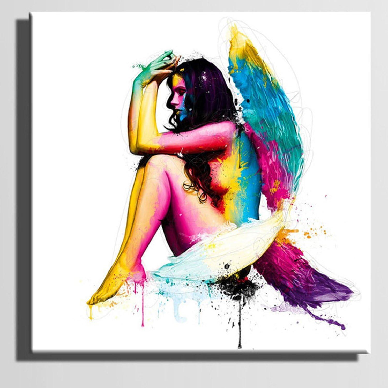 RUNDESHEBEI Y&M Ausgewählte Leinwand-Kunst Die Farbe der Frauen-Dekoration-Malerei-Satz, 40  40 B072JTFW7W  | Qualität