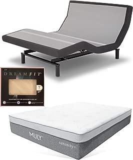 Leggett & Platt Prodigy 2.0 Adjustble Bed with Choice of MLily Cool Gel Memory Foam Mattress and Set of Dreamfit Sheets (Queen + 13
