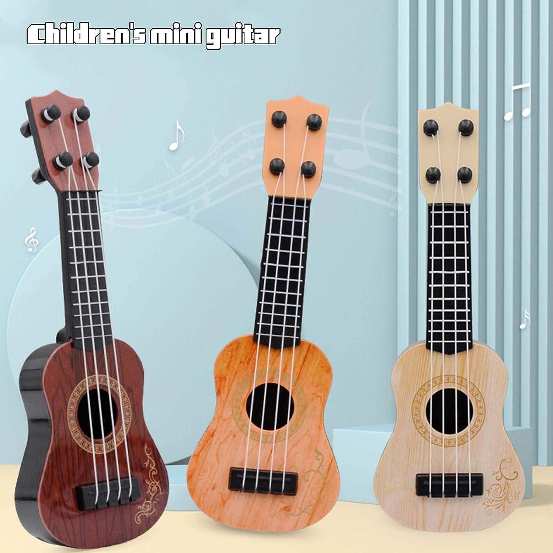 Ukul/él/é Clause de musique pour enfants Instrument de musique Petit mod/èle de guitare C//CoviDe Ukul/él/é Jouet pour enfant