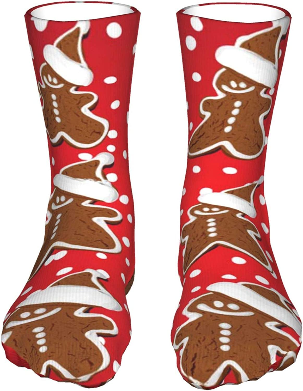 Christmas Gingerbread Funnyteen'S Sockings Soft Over item handling ☆ Boy'S favorite Breathabl