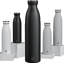 GH Drinkfles, roestvrij staal, 750 ml, zwart, herbruikbare vacuüm metalen thermoskan, lekvrije geïsoleerde thermosfles, BP...