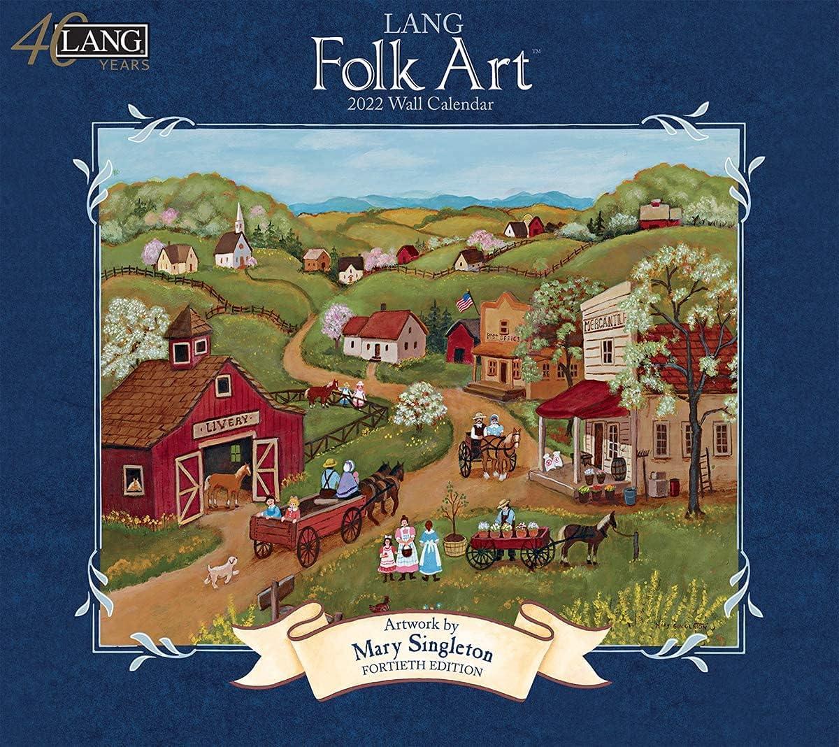 Lang Folk Art Finally New life popular brand 2022 22991001922 Wall Calendar