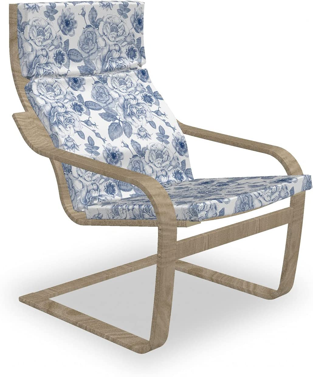 Ambesonne Nostalgic Armchair Ranking integrated 1st place Pad and Blo Slipcover Look Vintage National products