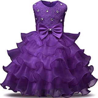 c1d3fbacdd5b NNJXD Girl Dress Kids Ruffles Lace Party Wedding Dresses