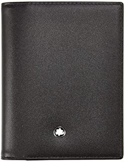 Montblanc Unisex-Adult Passport And Card Holde Fashion Wallet, Color Black
