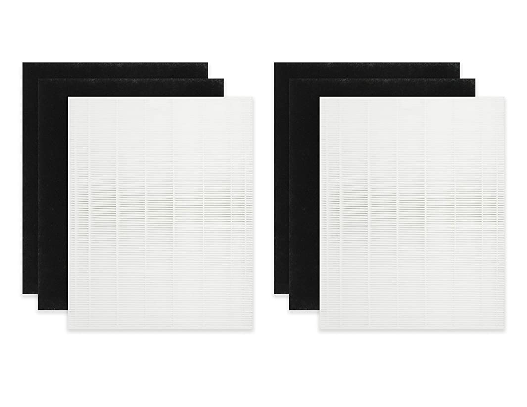 Fette Filter - Air Purifier Filters Compatible with Coway 3304899. Compare to Part # AP1512HH & - AP-1512HH. 2 HEPA Filters Plus 4 Carbon Pre-Filters
