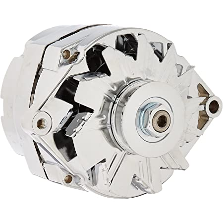 Db Electrical Adr0336-C Alternator Chrome For Chevrolet General Motors 110 Amp 3-Wire Setup 65, 67-85, Bbc Sbc Chevy Alternator 110 Amp 3 Wire Ho, Low Cut-In for Higher Charge Rate