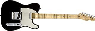 Fender American Standard Telecaster Electric Guitar, Maple Fingerboard, Black
