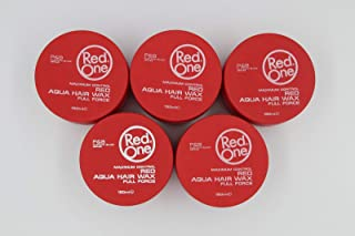 LOT 5 RED ONE MAXIMUM CONTROL AQUA HAIR WAX FULL FORCE RED 150ML/5FL.OZ