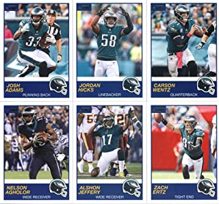 2019 Panini Score Football Veteran Philadelphia Eagles Team Set of 10 Cards: Carson Wentz(#183), Jordan Hicks(#184), Josh Adams(#185), Zach Ertz(#186), Alshon Jeffery(#187), Nelson Agholor(#188), Michael Bennett(#189), Fletcher Cox(#190), Jay Ajayi(#191), Golden Tate III(#192)
