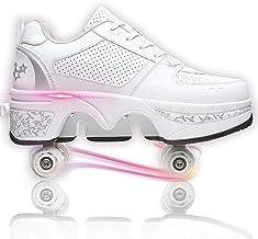 Modway Schoenen met Wielen voor Meisjes/Jongens, Automatische Walking Dubbele Rij Sneakers, Katrolschoenen Schaatsen Kids ...