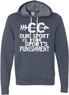 Adult Our Sport is Your Sport's Punishment Cross Country Deluxe Super Soft Sweatshirt Hoodie