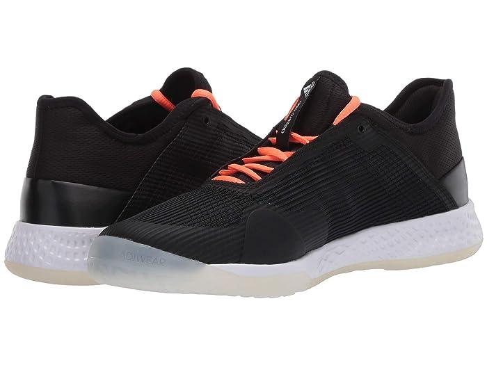 adidas  Adizero Club (Core Black/Signal Coral/Footwear White) Mens Tennis Shoes