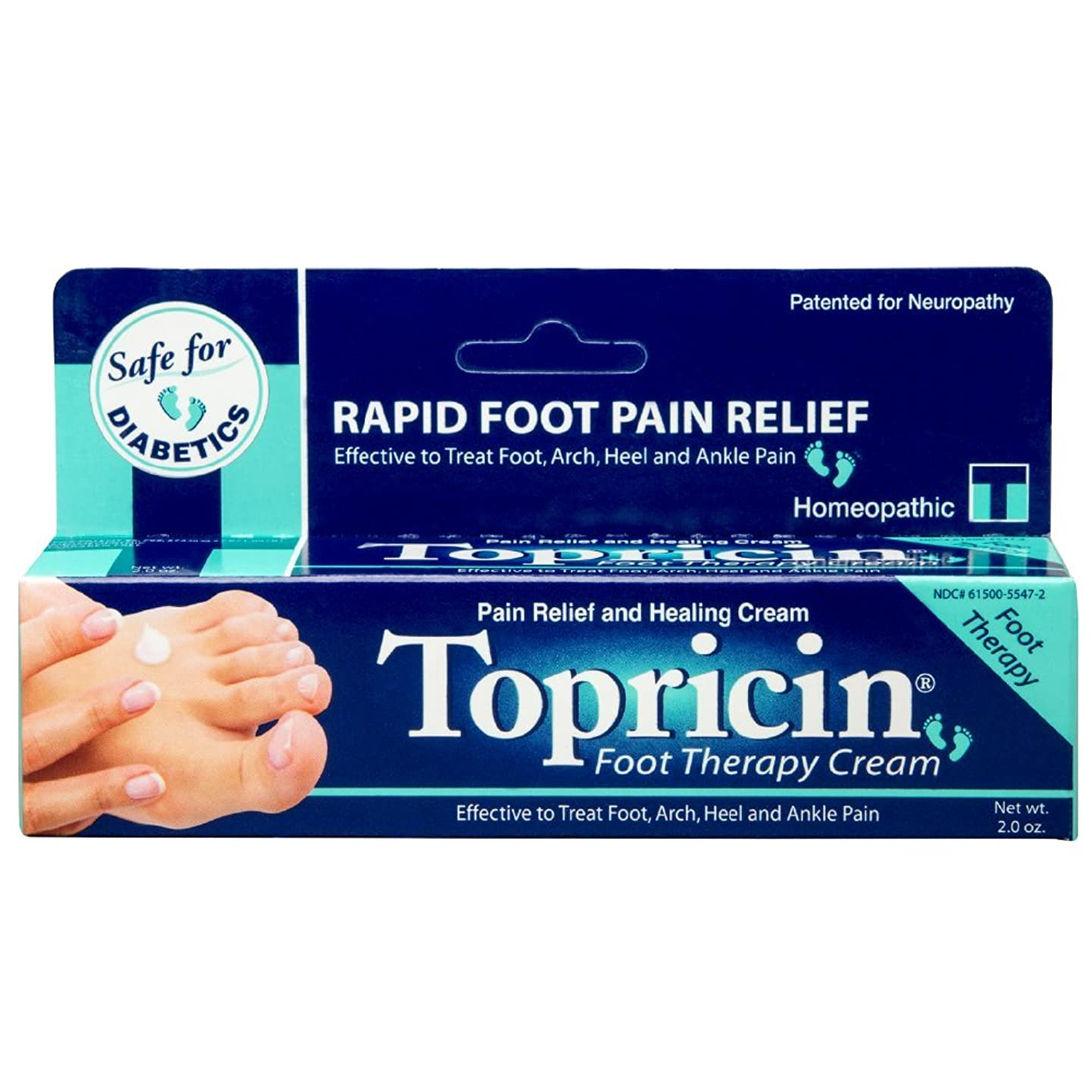 尋ねる校長食用海外直送品Topricin Foot Therapy Cream, 2 oz by Topricin