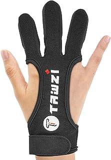 アーチェリーグローブ 3本指デザイン 指を保護 手にフィット 優れた感度で滑りにくい 初心者にも大人にも 弓道 指の防具