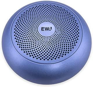 EWA A110mini Bluetoothスピーカー 重低音強化【コンパクト/TWS機能対応/エッジ付きドライバー/大音量/Micro SDカード対応/EVA専用ケース付き】(ブルー)
