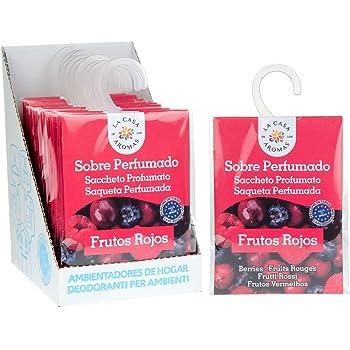 Set de 12 Sobres Perfumados, Bolsitas Aromáticas de Frutos Rojos, Saquitos para el Armario, Cajón, Ropa de Bebé, Zapatero, Maleta, Eliminan el Mal Olor: Amazon.es: Hogar